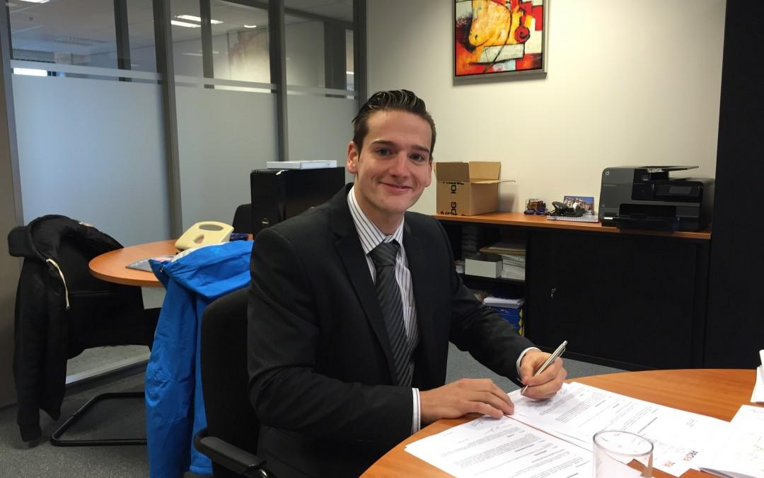 Tim Kluijtmans is de volgende nieuwe medewerker